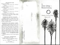 Junior College of Broward County. Schedule of Evening Classes Spring 1961, brochure