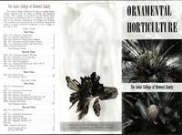 Ornamental Horticulture, brochure