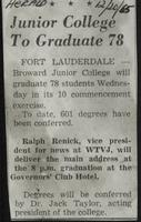 Junior College To Graduate 78