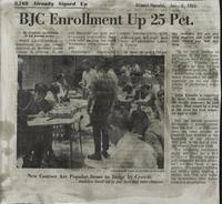 BJC Enrollment Up 25 Pct.