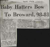 Baby Hatters Bow To Broward, 98-81
