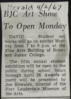 BJC Art Show To Open Monday