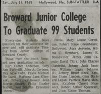 Broward Junior College To Graduate 99 Students
