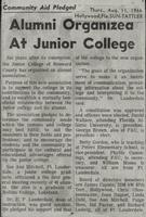 Alumni Organized At Junior College