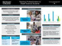 Teaching Professionalism to Health Science Students. Results.