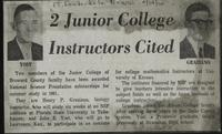 2 Junior College Instructors Cited
