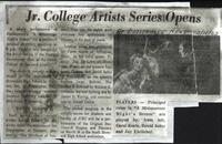 Jr. College Artists Series Opens