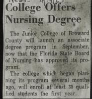 College Offers Nursing Degree