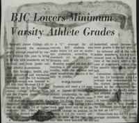 BJC Lowers Minimum Varsity Athlete Grades