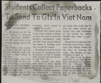 Students Collect Paperbacks To Send To Gls In Viet Nam