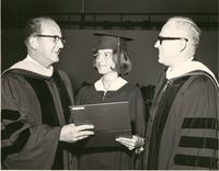 Dr. Blee and graduation speaker Dr. James Wattenbarger, father of the Florida community college system