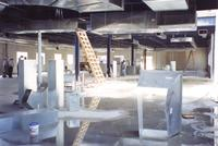 This is a photo of the 26,000 square-foot interior of the Pines Center under construction
