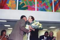 Acclaimed artist Dorothy Gillespie receives a bouquet
