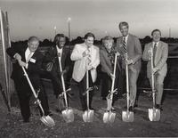 Pictured from left to right, Bill Duke, Margaret Roach, Rep. Jack Tobin, Elinor Wilkov, Mike Curran, and Will Holcombe