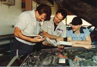 Today's automobiles require technicians with a strong knowledge of mechanics and computer technology