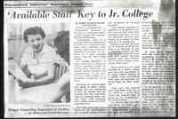 Available Staff Key to Jr. College