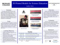 3D Printed Models for Science Education. Proposal.