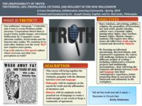 The (Im)Possibility of Truth: Truthiness, Lies, Propaganda, Fictions, and Bullshit in the New Millennium. Results.