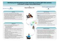 Identifying and Remediating At-Risk Attributes of Online MAT1033 Learners at Broward College Using eMathReady. Results.
